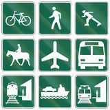 Informational United States MUTCD road signs Royalty Free Stock Photography