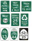 Informational United States MUTCD road signs Stock Photo