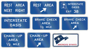 Informational United States MUTCD road signs Royalty Free Stock Image