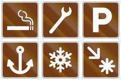 Informational United States MUTCD road signs vector illustration