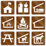 Informational United States MUTCD road signs Stock Images