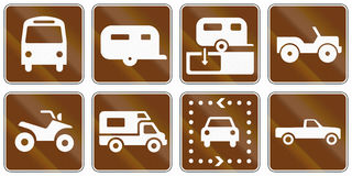Informational United States MUTCD road signs Royalty Free Stock Photo