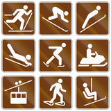 Informational United States MUTCD road signs Stock Image
