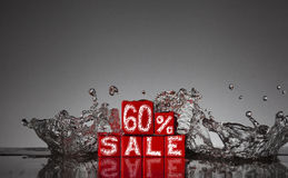 Informationen über den Rabatt bis 60% Stockbilder