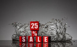 Informationen über den Rabatt bis 25% Stockfotos