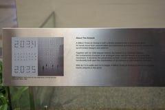 Informationen über die Million Zeiten an Flughafen Singapurs Changi stockfoto