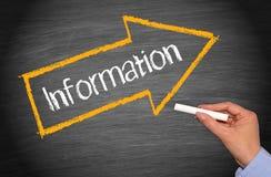 Informationen arrowed auf Tafel lizenzfreie stockbilder