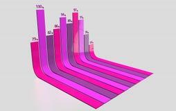 Informationen infographics gekurvt Stockfoto