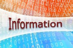 Informationen om textinskriften är skriftlig på ett semitransparent Arkivfoto
