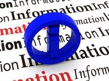 Informationen. Symbol Lizenzfreies Stockfoto