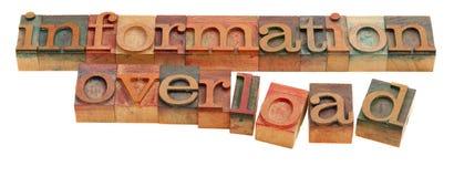 informationsöverbelastning Arkivfoto