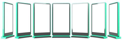 7 Informations-Anzeigen Fahnen-Stände in Ihrem Entwurf Wiedergabe 3d vektor abbildung