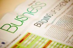 Informations commerciales Photo libre de droits