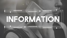 Informations-Daten-Forschungs-Berichts-Ergebnis-Konzept Stockfotos