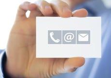 Informations de contact photo libre de droits