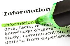 Informations-Definition lizenzfreies stockbild