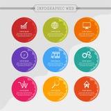 Informations-Grafik-Netz Lizenzfreie Stockbilder