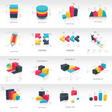 Informations-Grafikschablone des Diagrammdesigns 3d stockbild