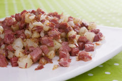 Informations parasites de corned beef Image libre de droits
