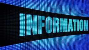 Informations-Privatleben-Seite simsen das In einer Liste verzeichnen des LED-Wand-Anzeigetafel-Zeichen-Brettes stock video