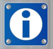 Informations sign. Blue pictogram sign, informations sticker Stock Photo