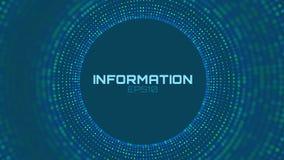 Informations sur les données colorées abstraites de vecteur les grandes assortissant la visualisation Réseau social, analyse fina illustration stock