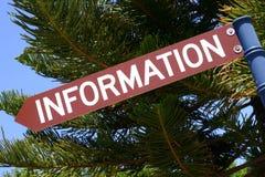 Informations-Zeichen Lizenzfreies Stockfoto