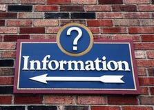 Informations-Zeichen Stockfotografie