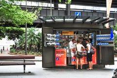 Informationsbås om besökare på den runda kajen, Sydney fotografering för bildbyråer