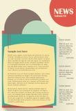Informationsblad- eller websitemalldesign stock illustrationer