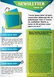 Informationsblad- eller websitemalldesign vektor illustrationer