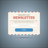 Informationsbladet prenumererar formen för rengöringsduk och mobil Arkivbilder