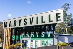 Informationsbyrå om Marysville turist Royaltyfri Bild
