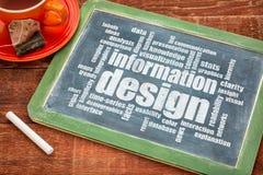 Informationsdesign-Wortwolke Stockbilder