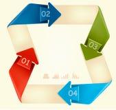 Informationsdiagrambaner med nummer. Royaltyfria Bilder