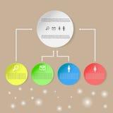 Informationsgraphiken, farbiges infographics, Informationsdiagramm Lizenzfreie Stockfotografie