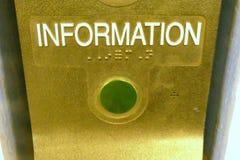 Informationsknopf Stockfotografie