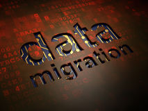 Informationskonzept: Daten-Migration auf digitalem stock abbildung