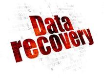 Informationskonzept: Daten-Wiederaufnahme auf Digital-Hintergrund Stockbilder
