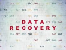 Informationskonzept: Daten-Wiederaufnahme auf digitalem lizenzfreie abbildung