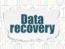 Informationskonzept: Daten-Wiederaufnahme auf heftigem Papier Lizenzfreie Stockfotografie