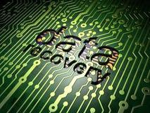 Informationskonzept: Daten-Wiederaufnahme auf Stromkreis Lizenzfreies Stockfoto