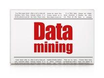 Informationskonzept: Zeitungsschlagzeile Data - Mining vektor abbildung