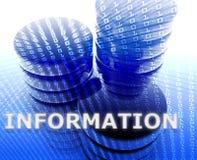 informationslagring om data stock illustrationer