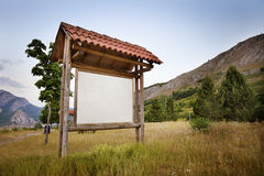 Informationspanel i nationalpark Arkivbild