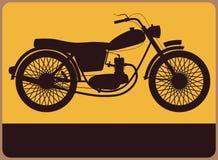 Informationsplatta med den retro mopeden. royaltyfri illustrationer
