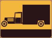 Informationsplatta om lastbil royaltyfri illustrationer