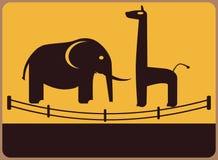 Informationsplatta om zoo. royaltyfri illustrationer