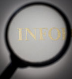 Informationssökande Arkivbild