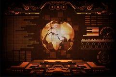 Informationsschnittstelle über die Welt Stockfotografie